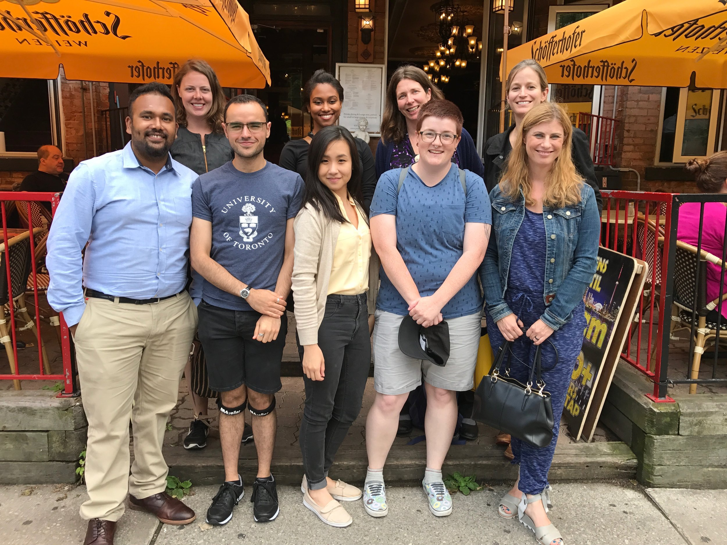 Paradis Lab Lunch, Summer 2017