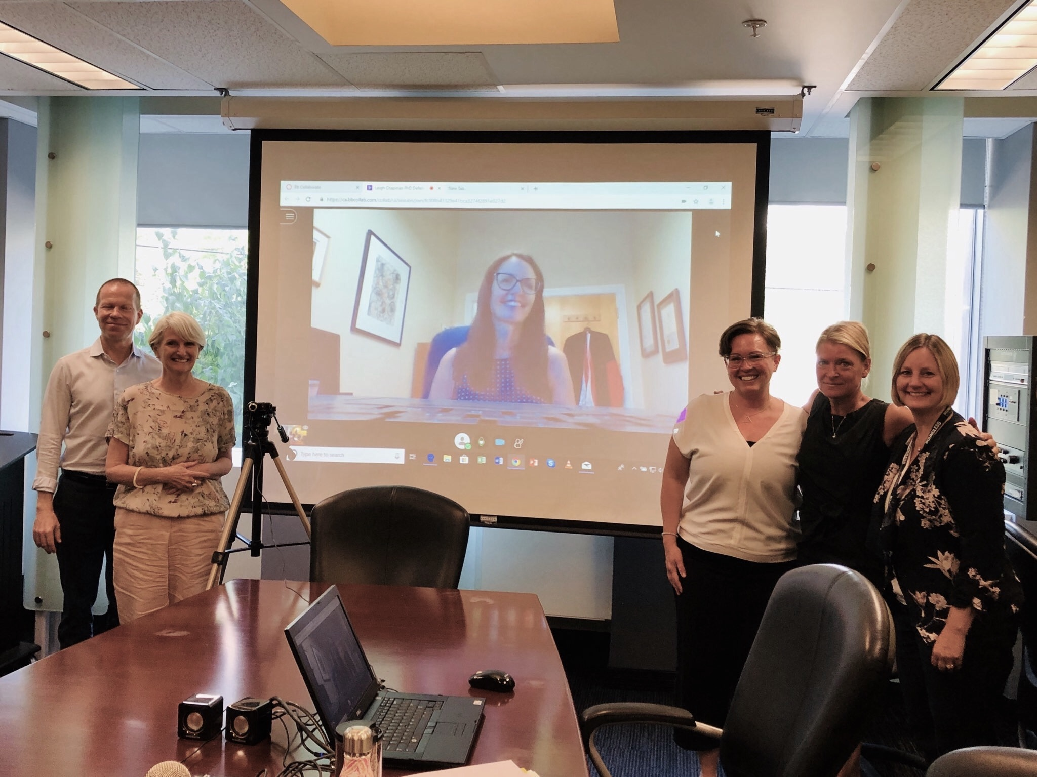 Dr. Brian Hodges, Dr. Sioban Nelson, Dr. Sheri Price, Dr. Leigh Chapman, Dr. Lianne Jeffs, and Dr. Lisa Cranley. Dr. Elise Paradis on the phone from San Francisco!