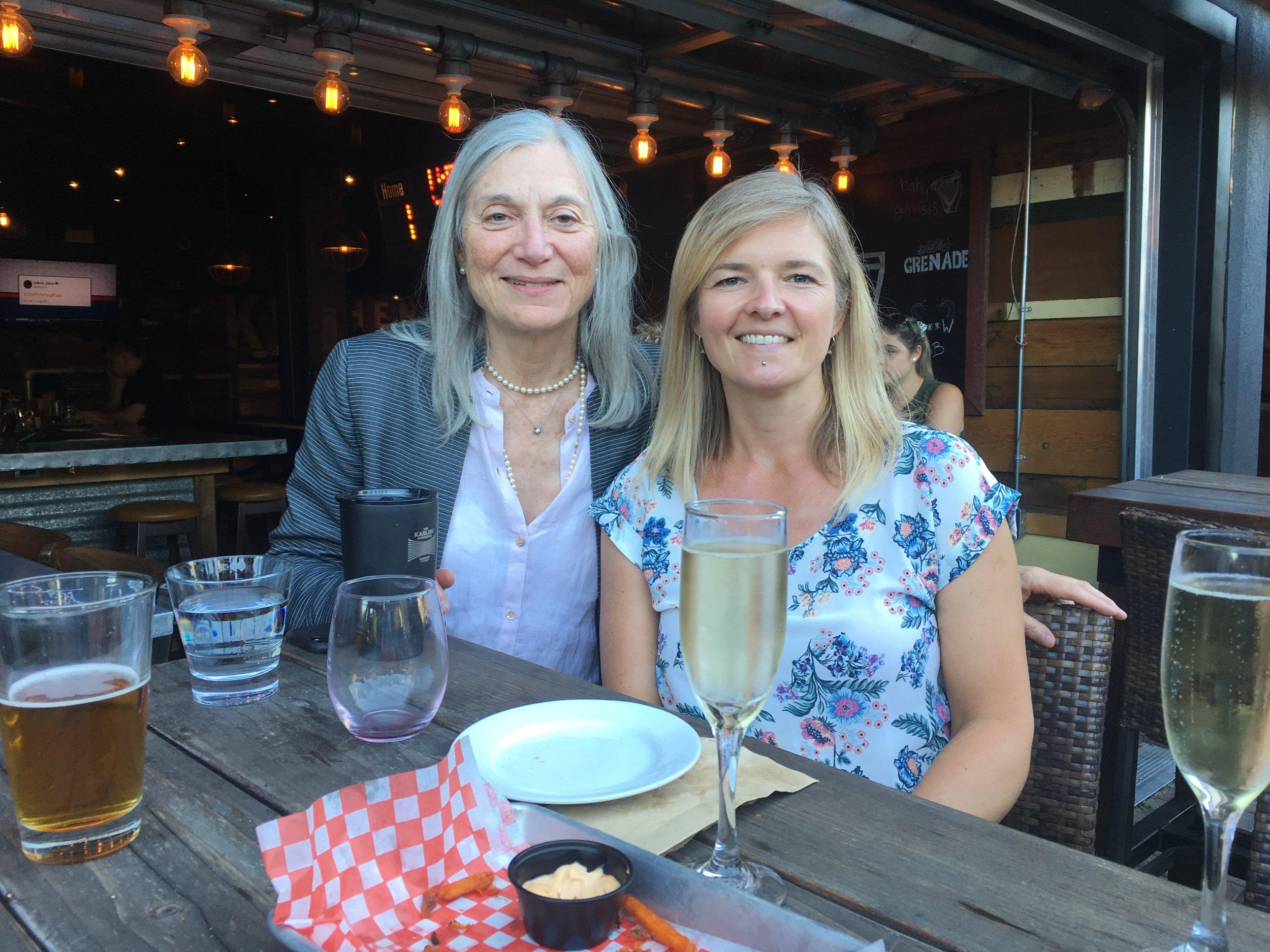 Dr. Gillian Einstein and Dr. Arija Birze celebrate a successful defence.