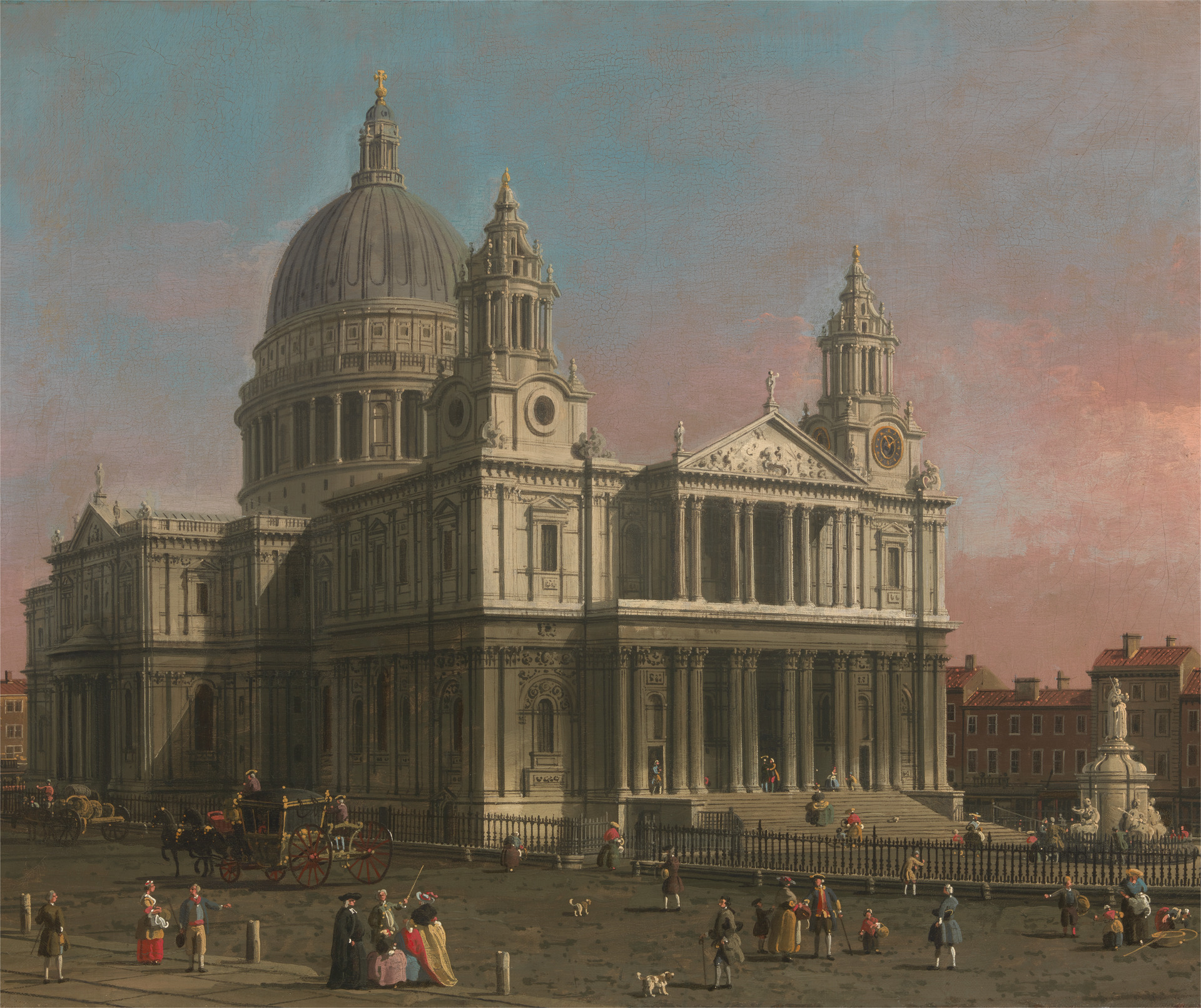 Canaletto, 1697–1768, Venetian, active in Britain (1746–55),  St. Paul's Cathedral , ca. 1754, Oil on canvas, Yale Center for British Art, Paul Mellon Collection.