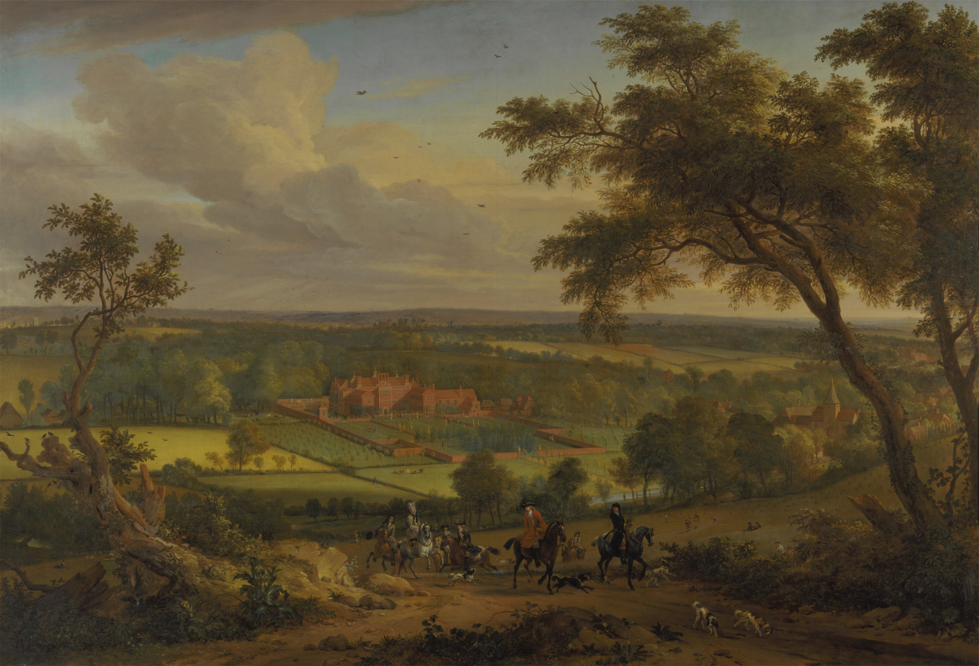 Perhaps Jan van der Vaardt, 1647–1721, Dutch, active in Britain (from ca. 1674),  Bifrons Park, Kent , between 1695 and 1705, Oil on canvas, Yale Center for British Art, Paul Mellon Collection.