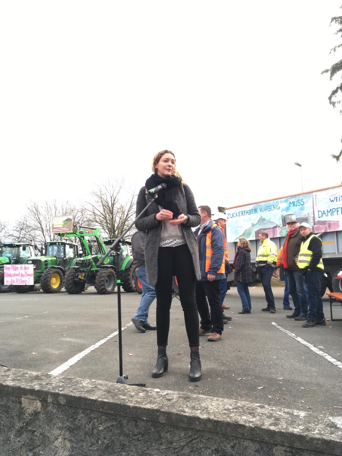 Streik gegen die Schließung der Warburger Zuckerfabrik