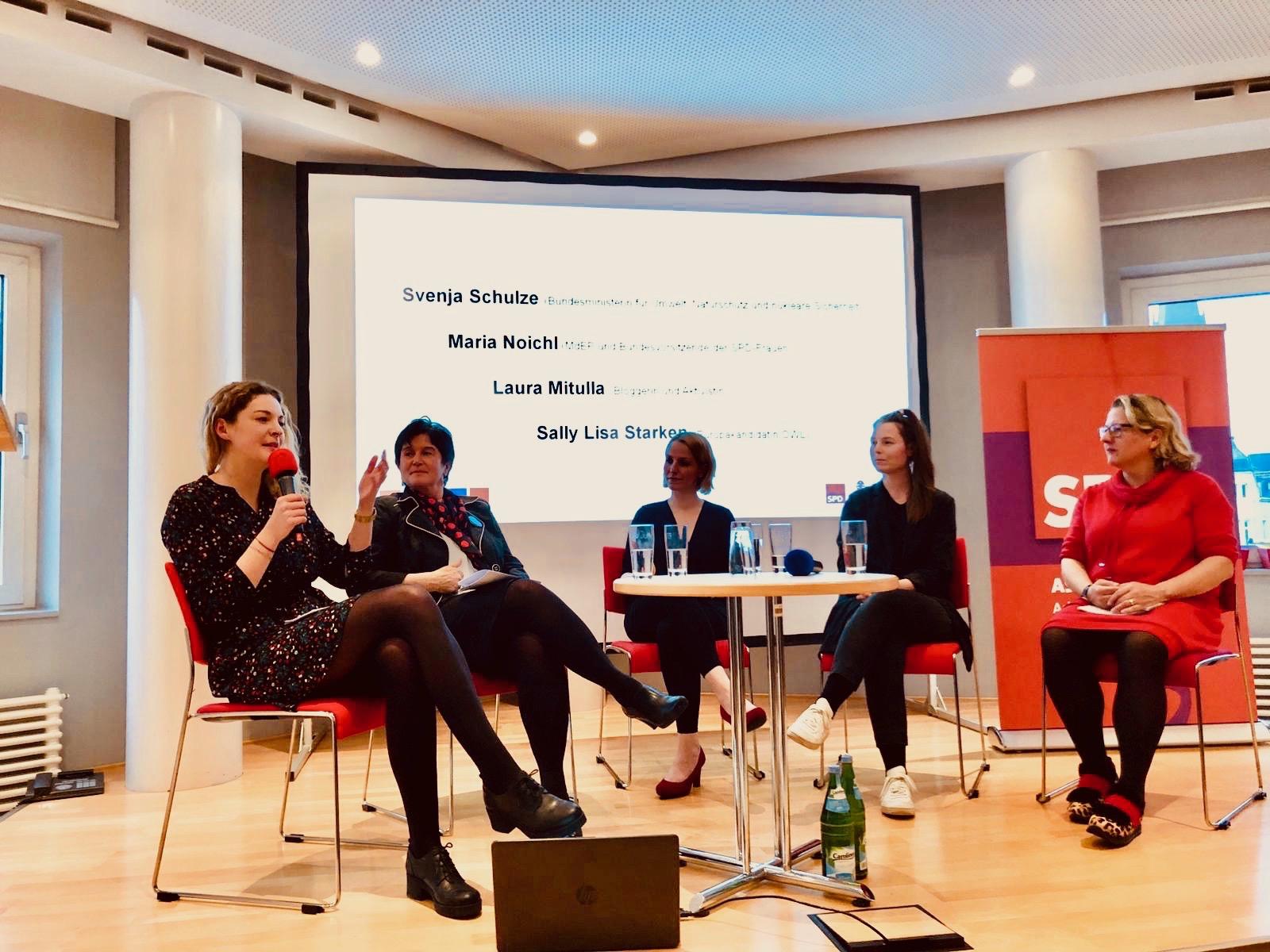 """Veranstaltung """"Heldinnen der Umwelt"""" mit Svenja Schulze und Maria Noichl"""
