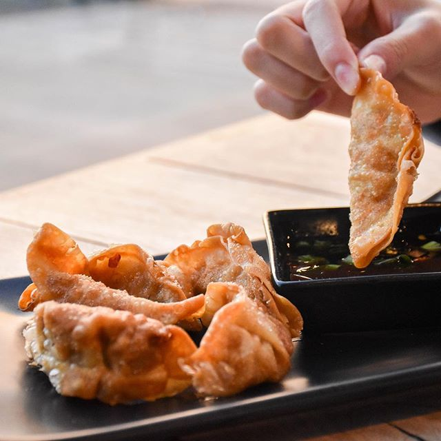 POTSTICKERS!!! Perfectly fried stickers to dip in our in-house Ponzu sauce! Get them today at @villageatmeridian  #riceworks #asianfood #rice #bowl #ninja #asianfusion #eatlocal #potstickers #boise #meridianidaho #supportlocal #riceworksasianfood