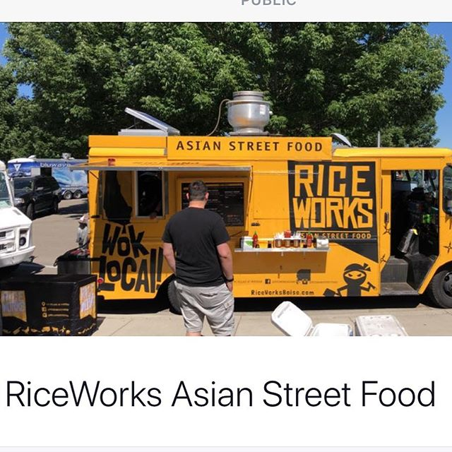 All ready for parktacular today! Come join us at settlers park and Let us feed your hungry bellies.  #settlersparkmeridian #thisisboise #foodtrucks #summer #eatlocal #riceworksasianfood #supportlocal #parktacular  #riceislife #meridianidaho