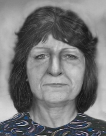 2nd facial reconstruction by Catyana Falsetti; 2012