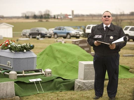 Fond du Lac County, WI, Jane Doe's funeral in 2011