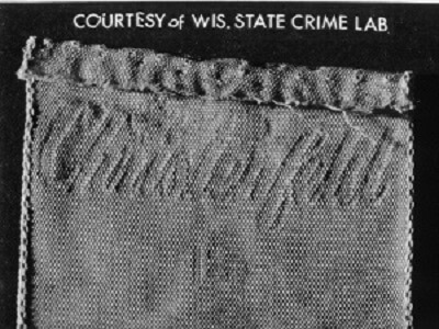 The label from Columbia County Jane Doe's pants