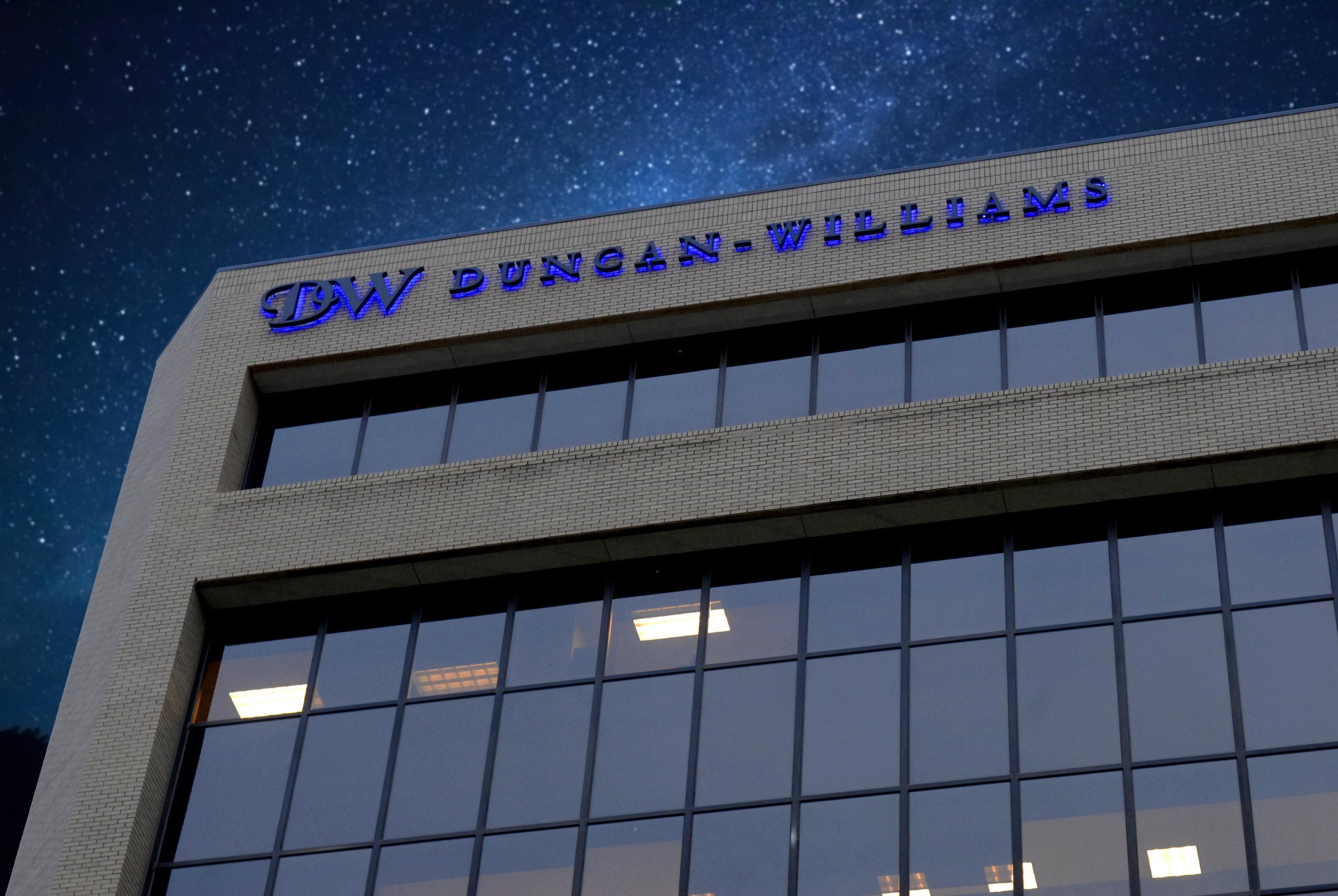 Duncan Williams Illuminated Building Sign