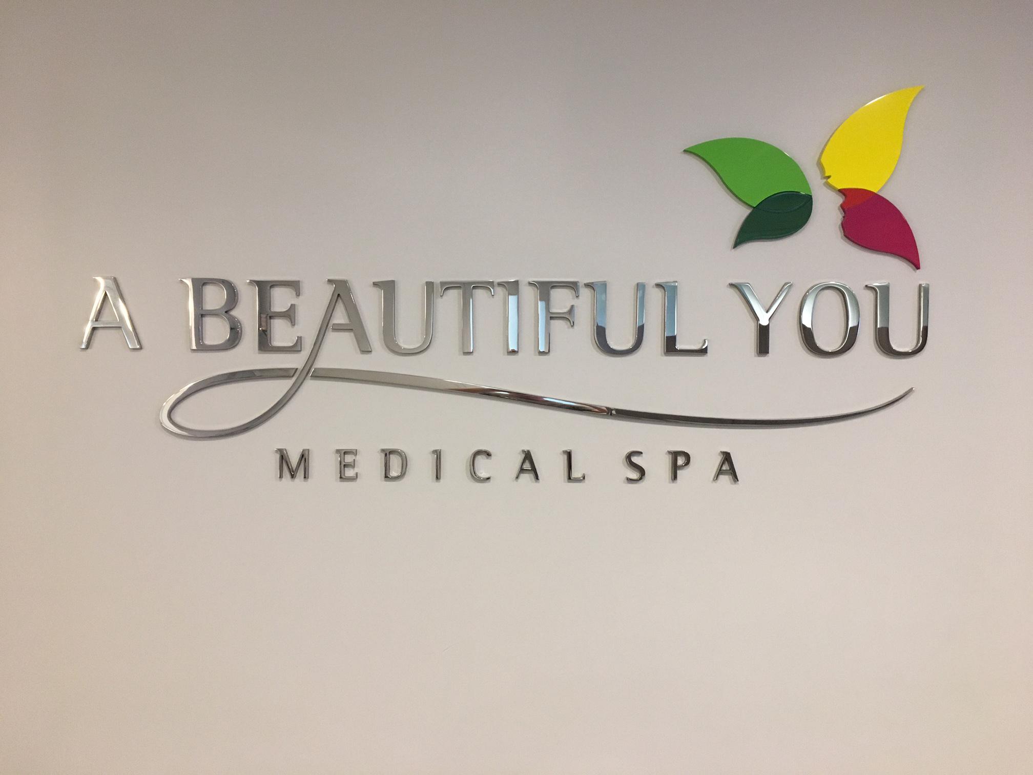 A Beautiful You Dimensional Lobby Logo