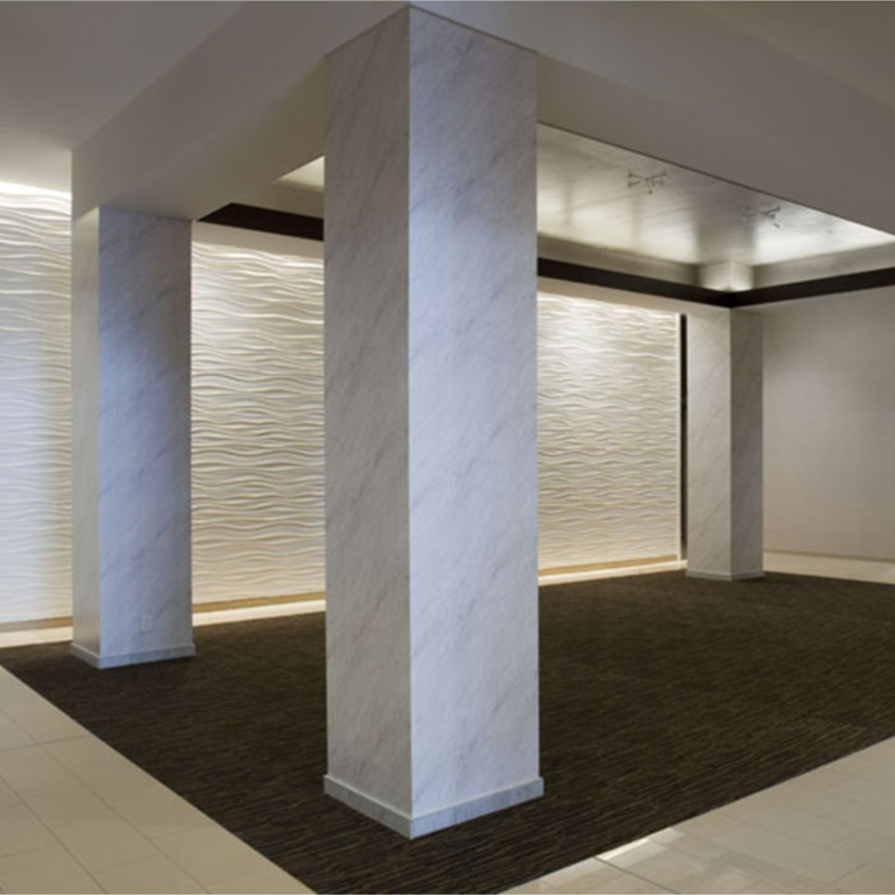 Columns Resurfaced with Marble Vinyl