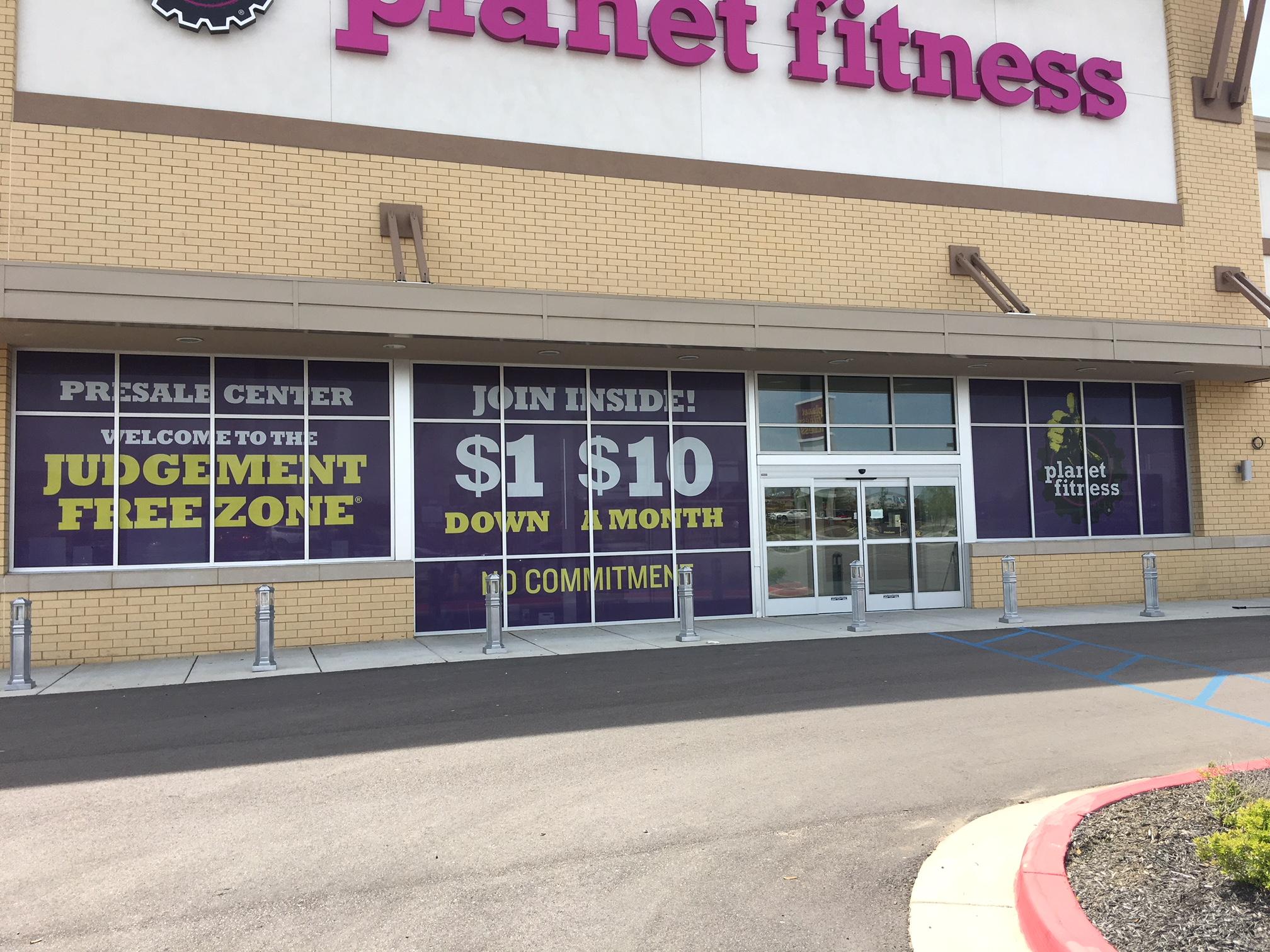 Planet Fitness Window Graphics