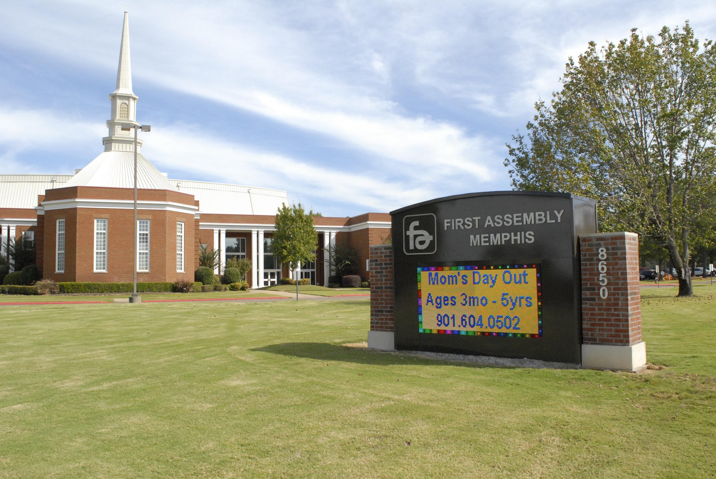 First Assembly Christian School Message Center_LSIGraphics_MemphisTN