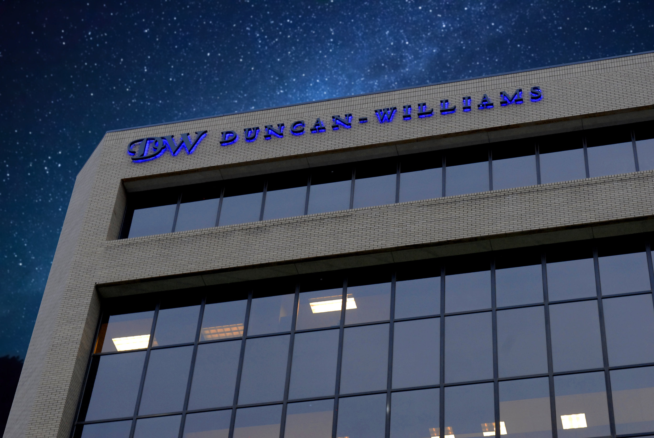 Duncan Williams Illuminated Building Sign