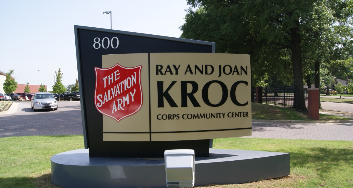 The Salvation Army Kroc Center Monument Sign