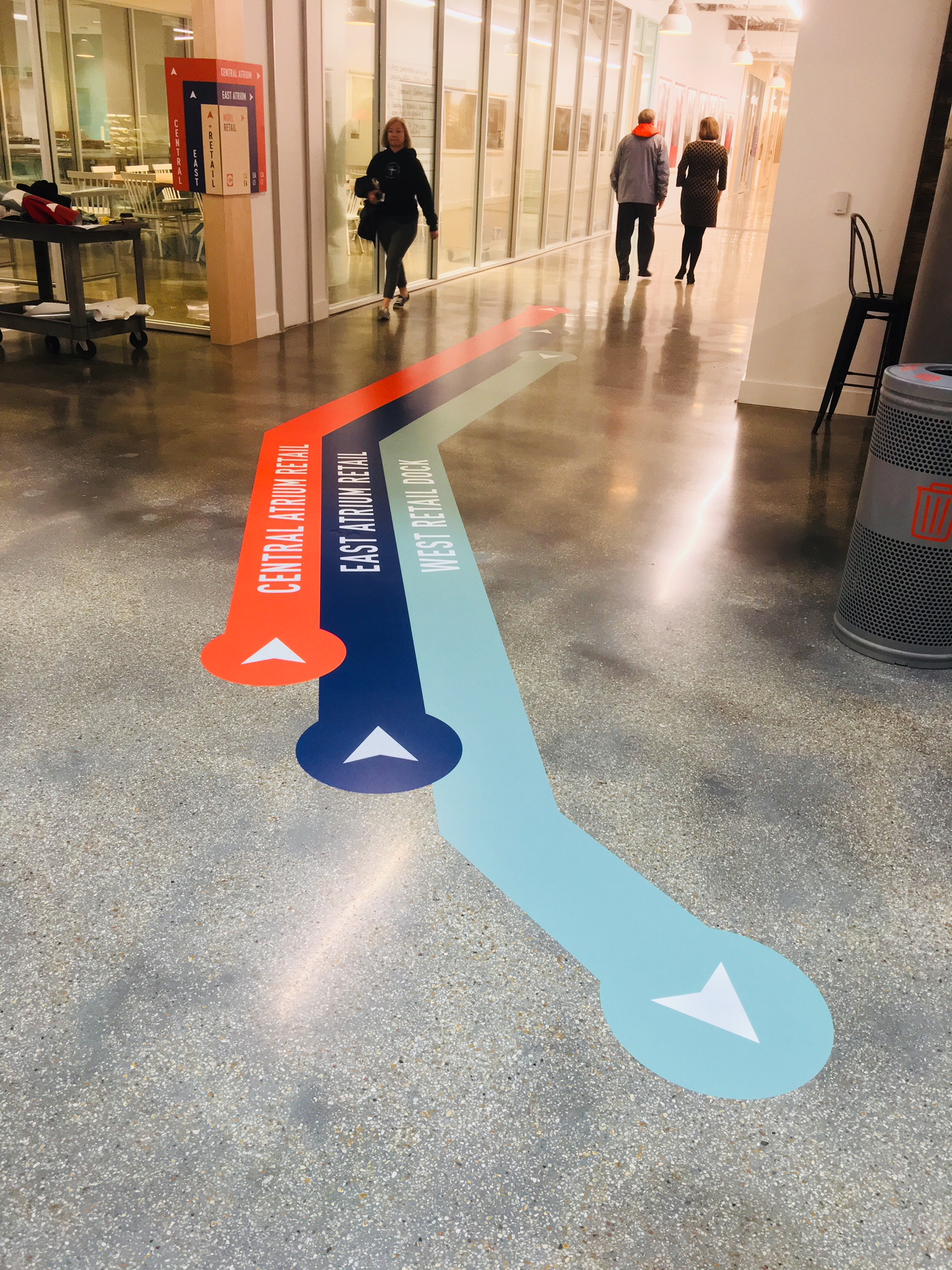 Crosstown Concourse Wayfinding Concrete Graphics