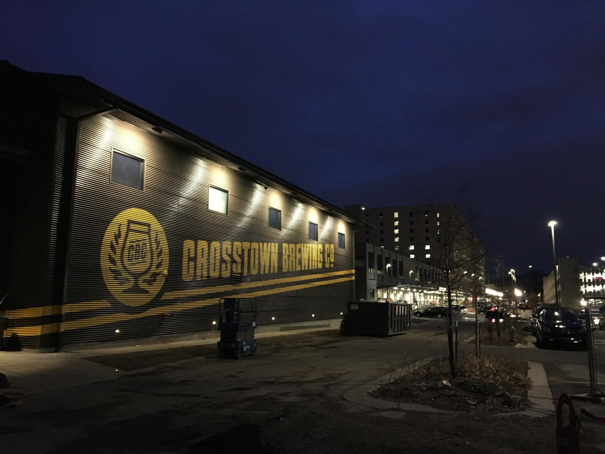 Crosstown Brewing Painted Logo Night