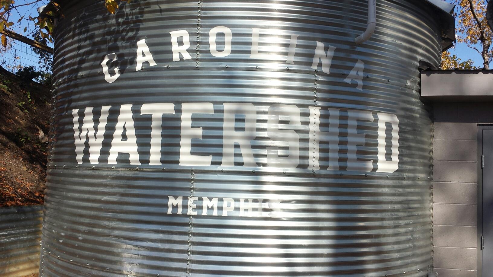 Carolina Watershed Painted Logo Water Tower