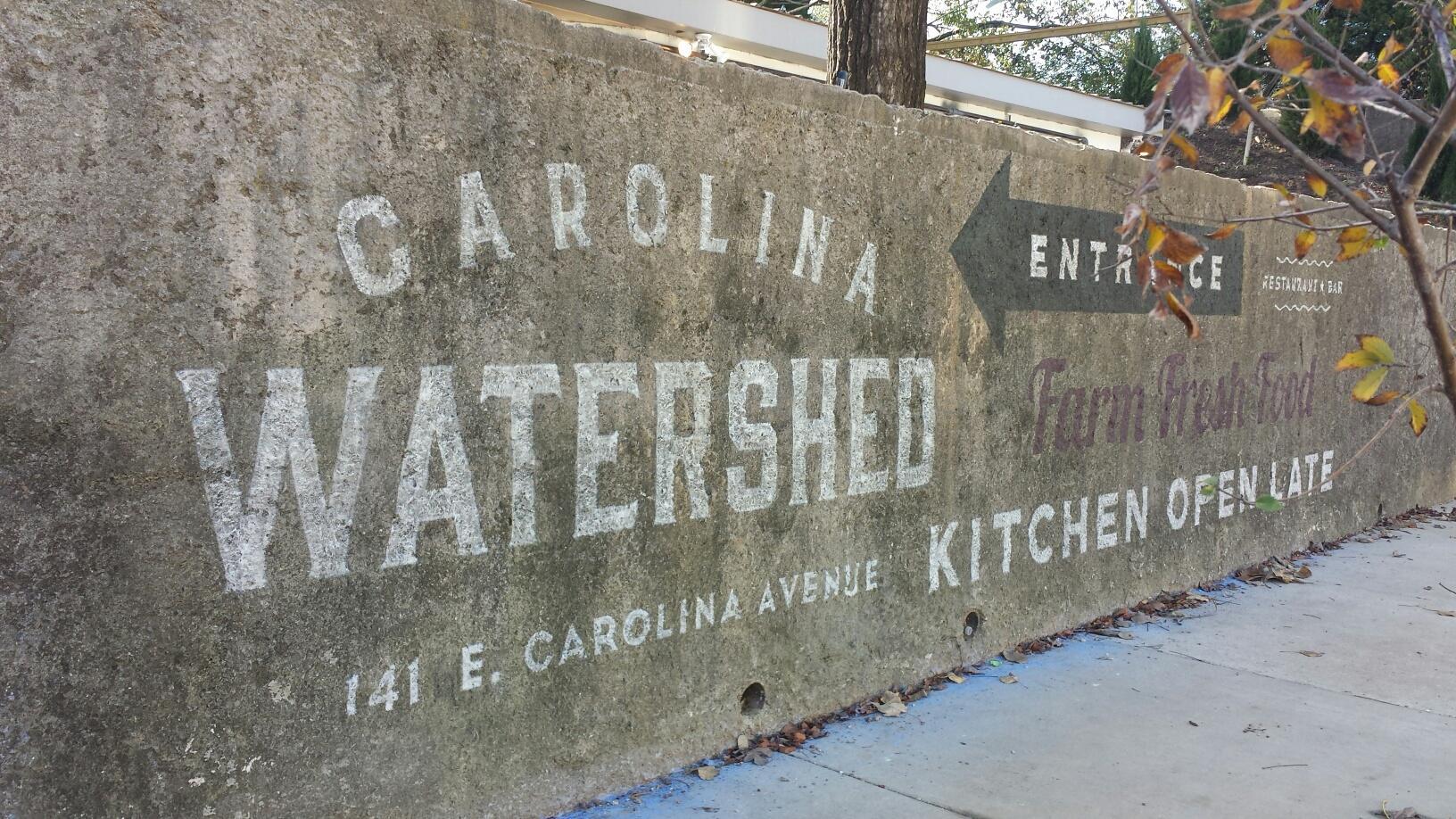 Carolina Watershed Painted Logo Concrete