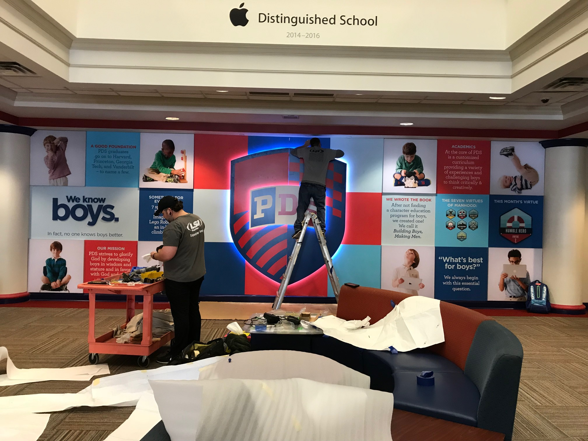 Presbyterian-Day-School_Dimensional-Letters-and-Logos_Interior-Signage_LSIGraphics_Memphis-TN_2 ..