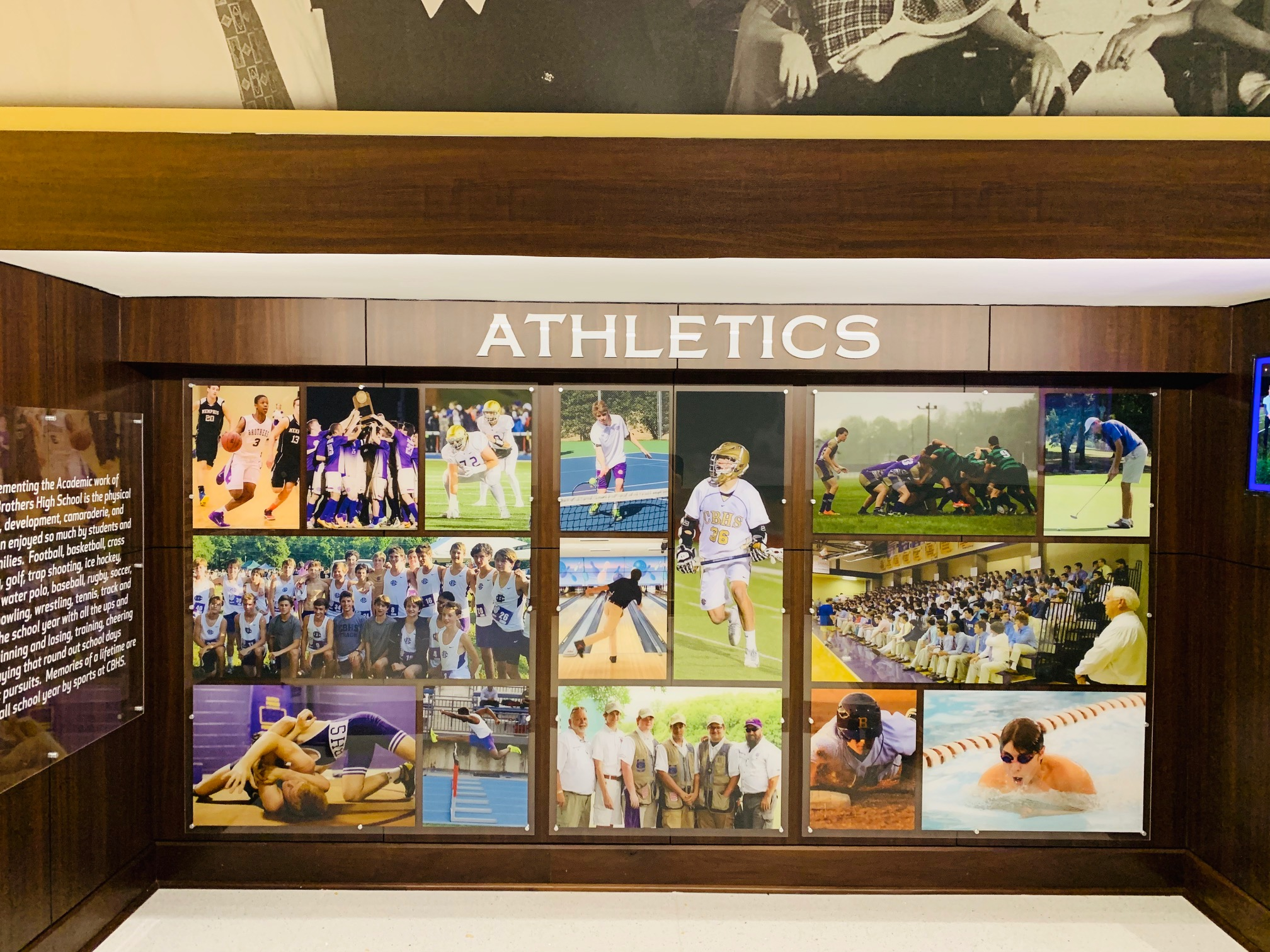Christian-Brothers-High-School_Athletics_After-Renovation_Interior-Branding_Dimensional-Letters_Acrylic-Prints_Architectural-Surfaces_LSIGraphics_Memphis-TN ..