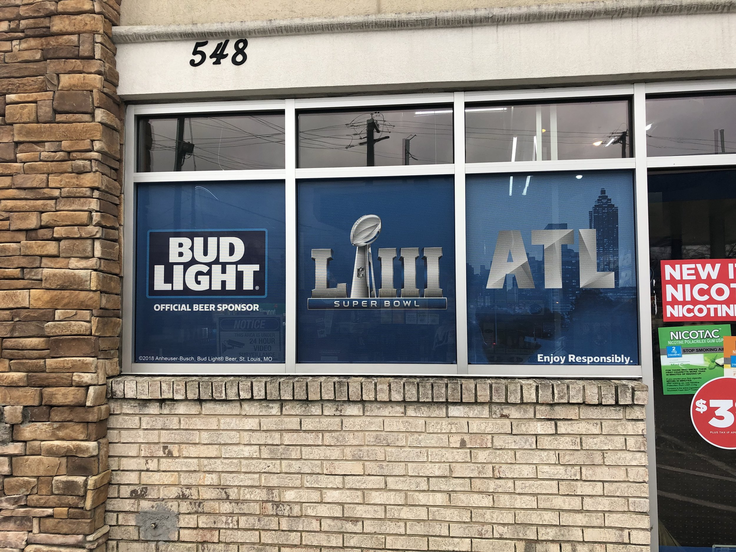 Anheuser-Busch-Super-Bowl-LIII_Circle-K_Window-Graphics_Events_LSIGraphics_Atlanta-GA ..