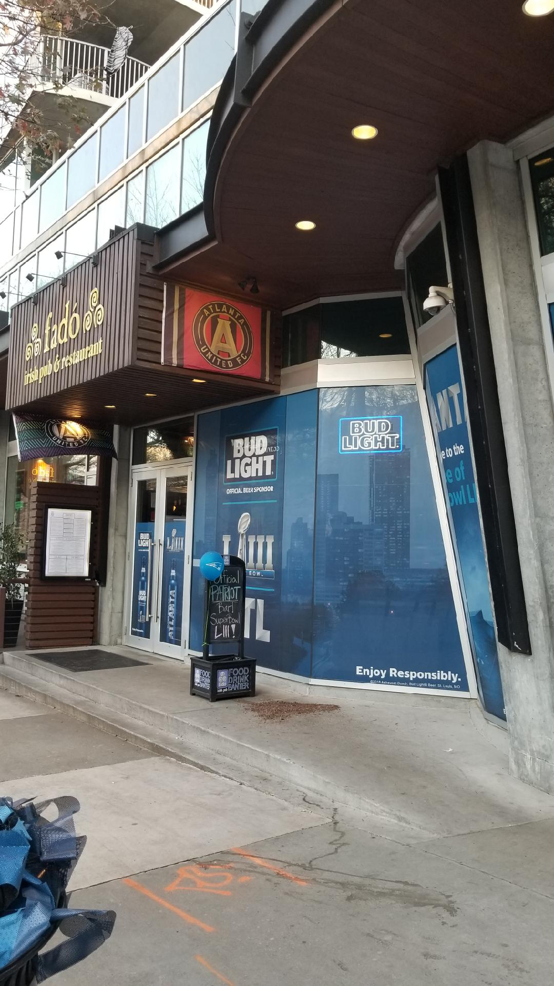 Anheuser-Busch-Super-Bowl-LIII_Fado-Irish-Pub_Window-Graphics_Events_LSIGraphics_Atlanta-GA_4 ..