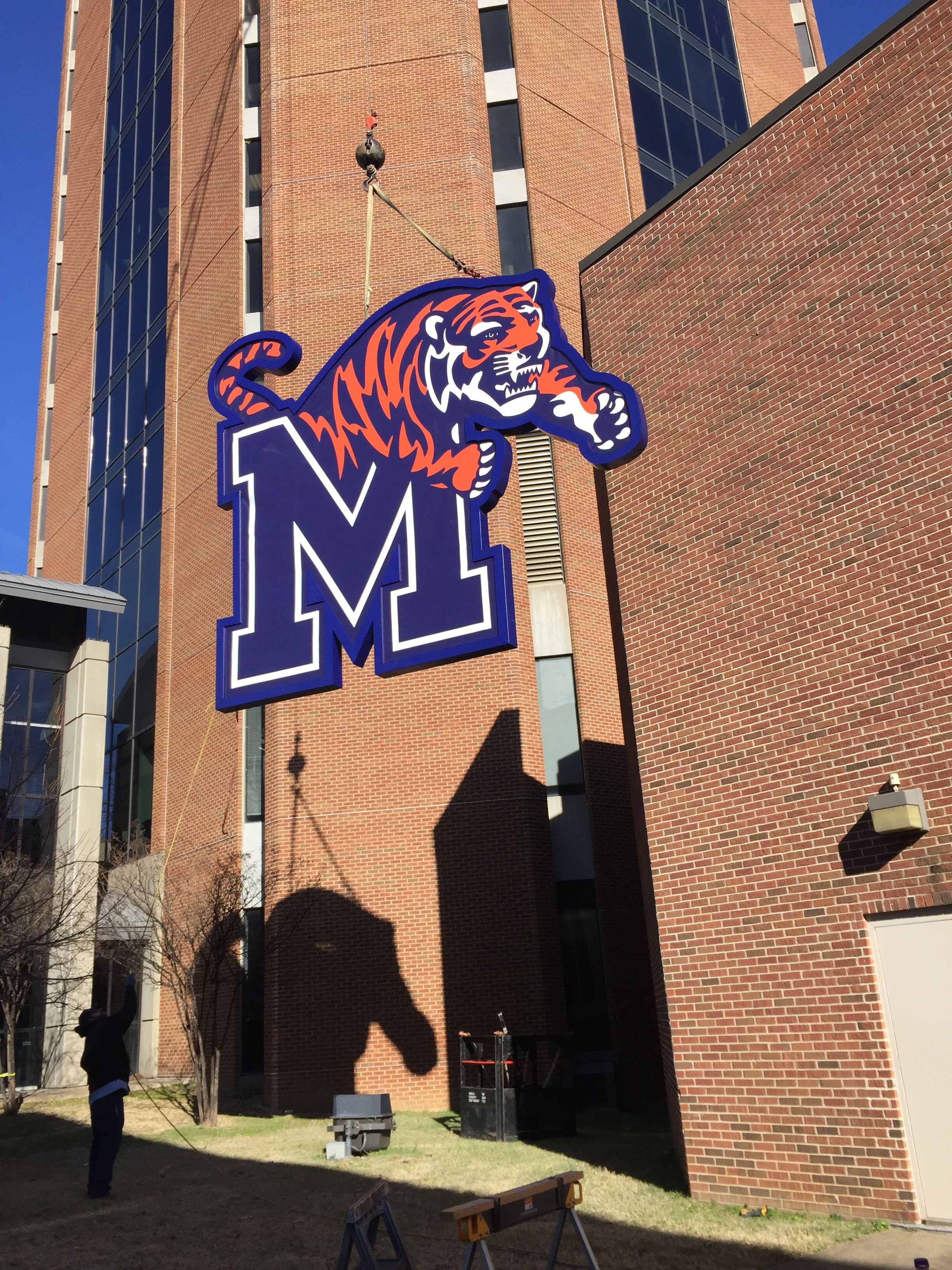 Memphis Tigers Building Sign