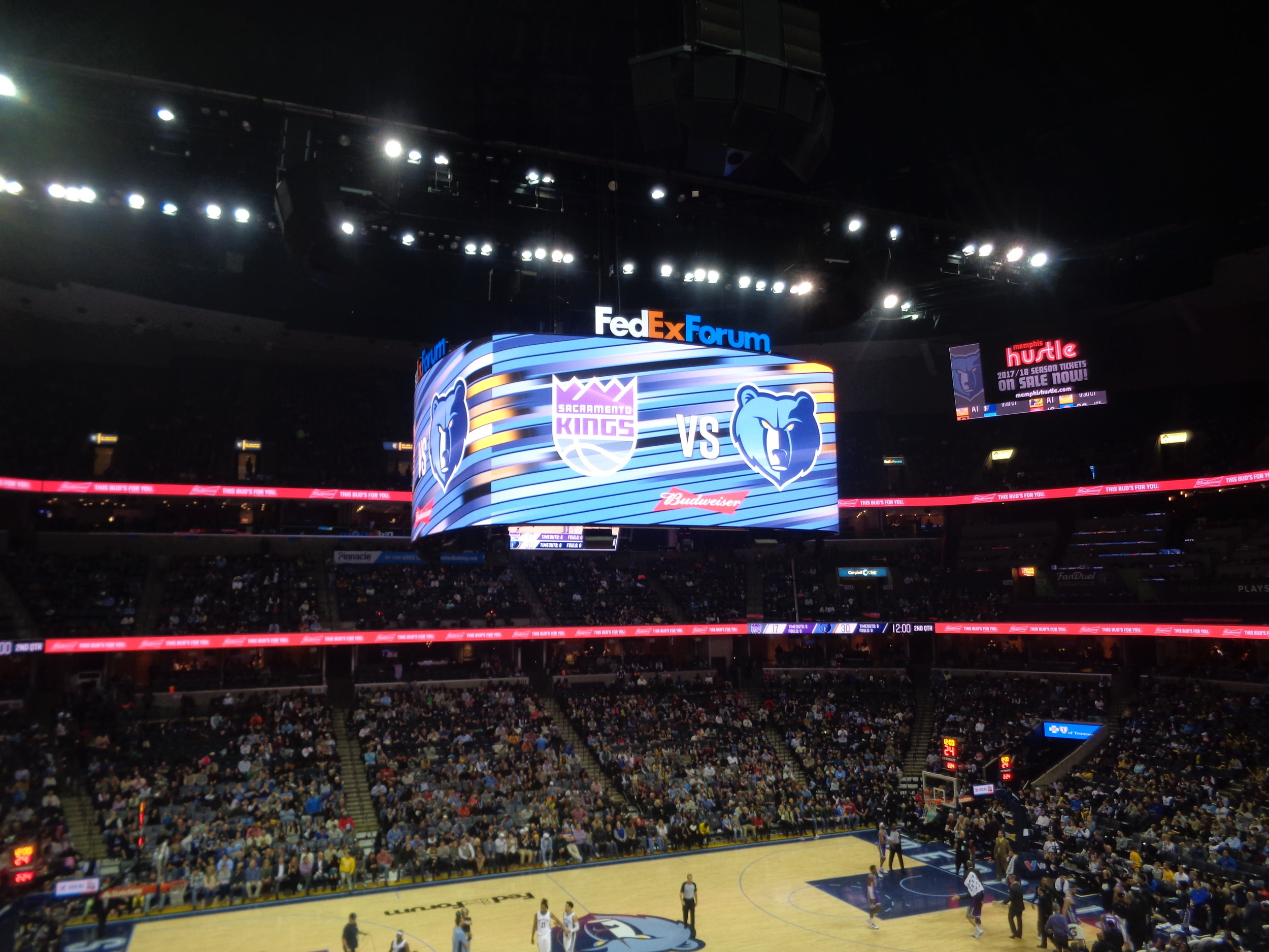 FedEx Forum Scoreboard