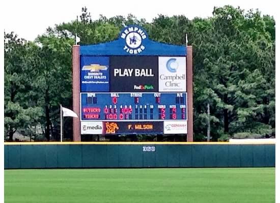 Memphis Baseball Scoreboard