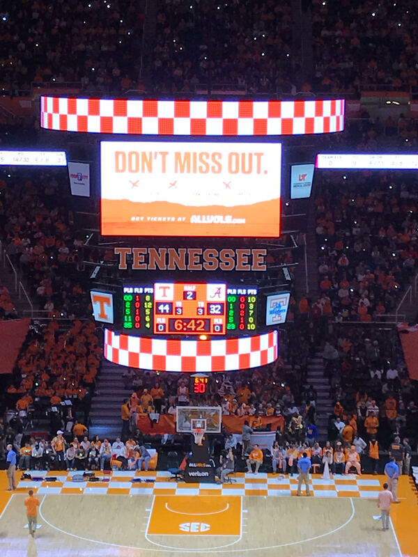 Tennessee Basketball Scoreboard