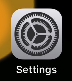 Locate and tap the ' Settings ' App on your device's Home Screen.