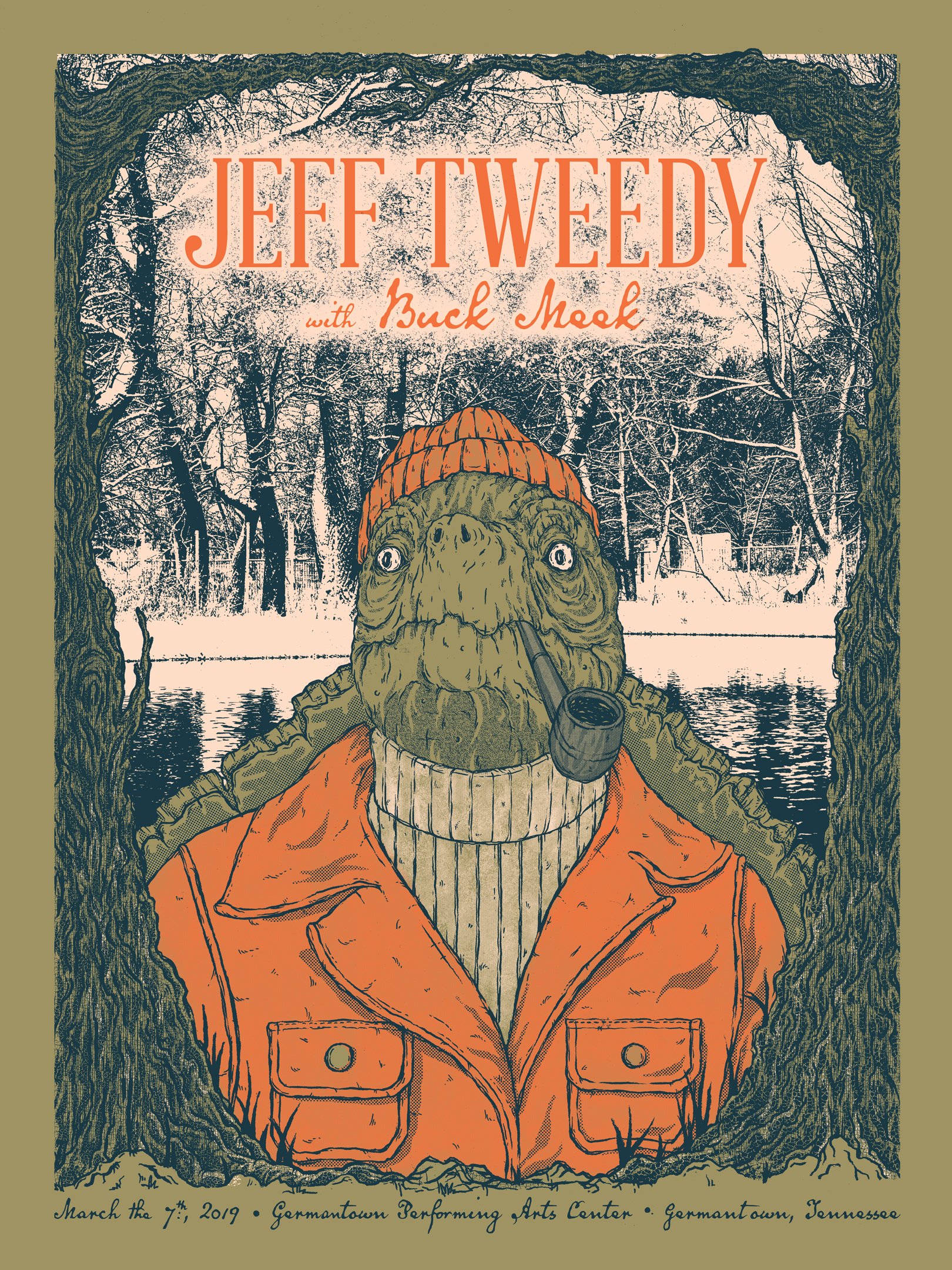 Jeff Tweedy Snapper Screen Print