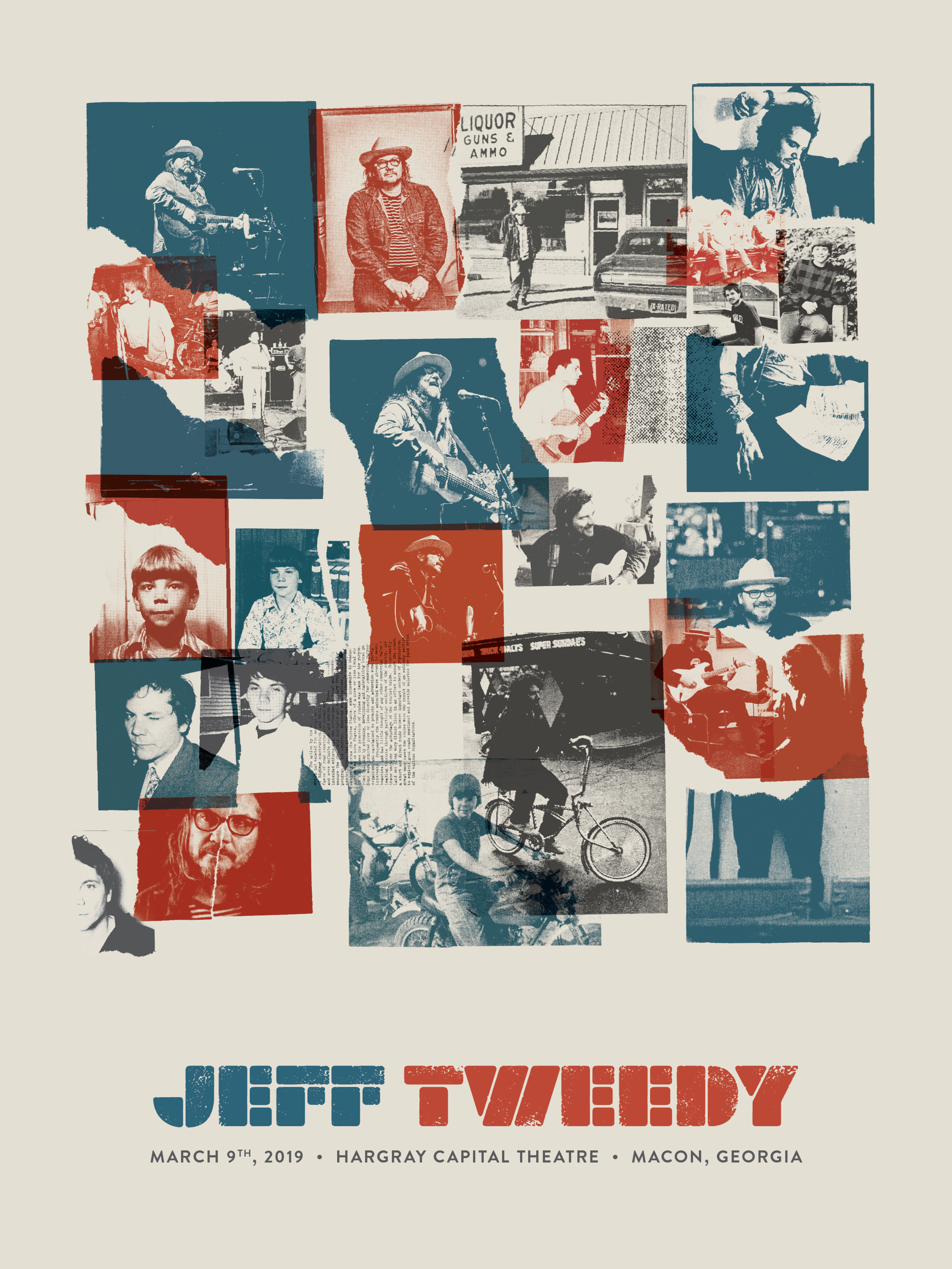Jeff Tweedy Collage Screen Print