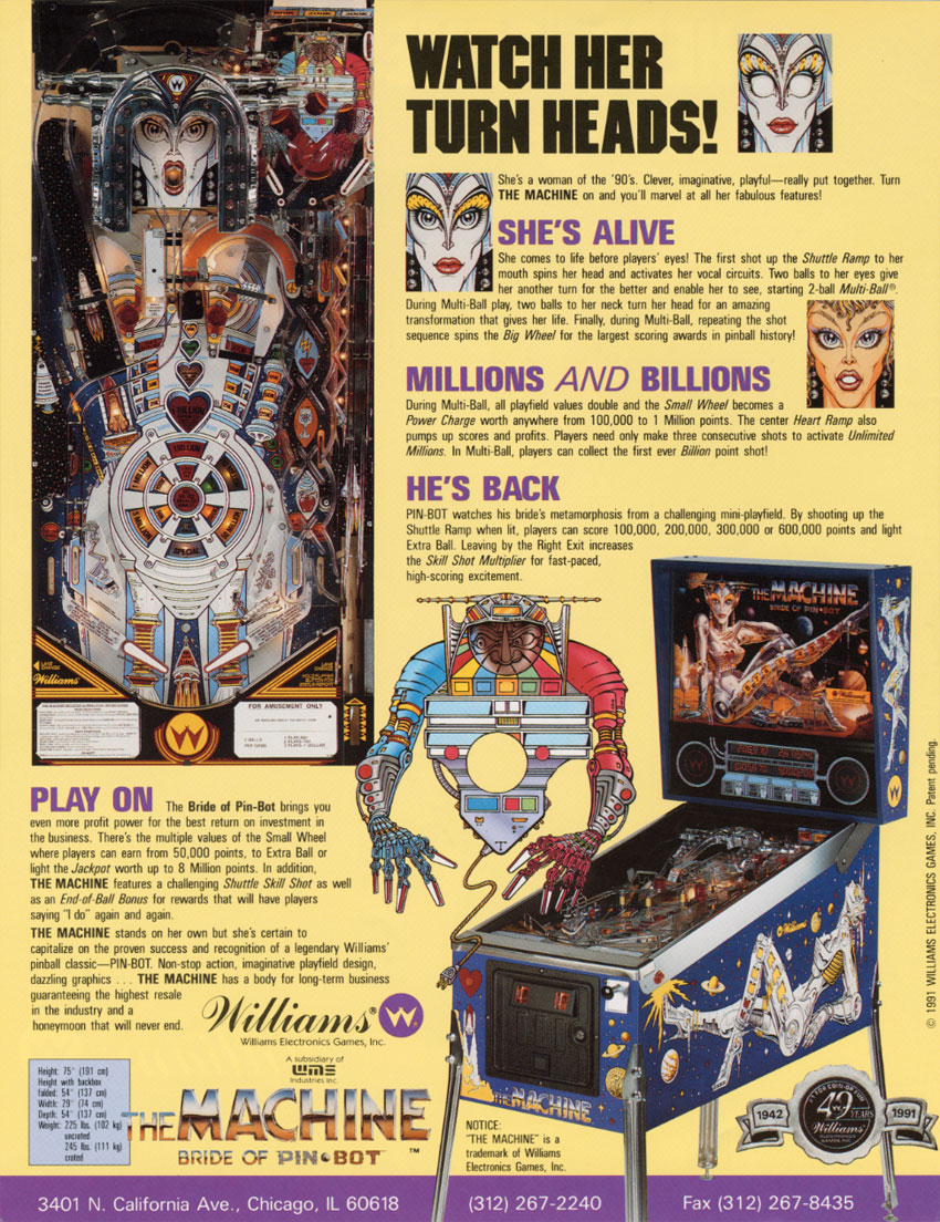The Machine: Bride of Pin-bot