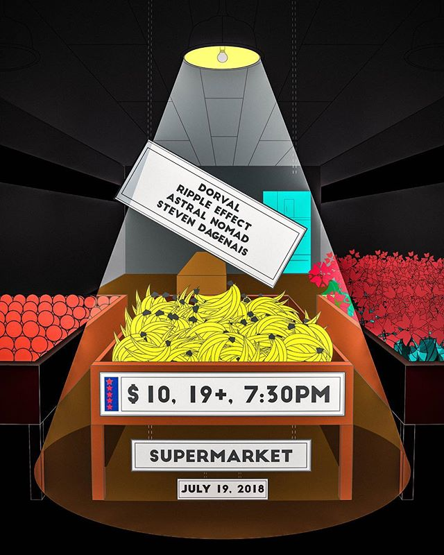 We're playing the Supermarket in Kensington on July 19, around 10:00pm! And we're super stoked because the Supermarket is awesome. Deets are on this poster here 😜 #super #market