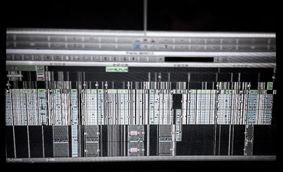 """""""Look What You Have Become"""" complete editing timeline in Avid: Media Composer."""