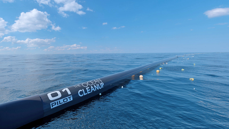 First model of the Ocean Clean Up sent into the Pacific Ocean in 2018