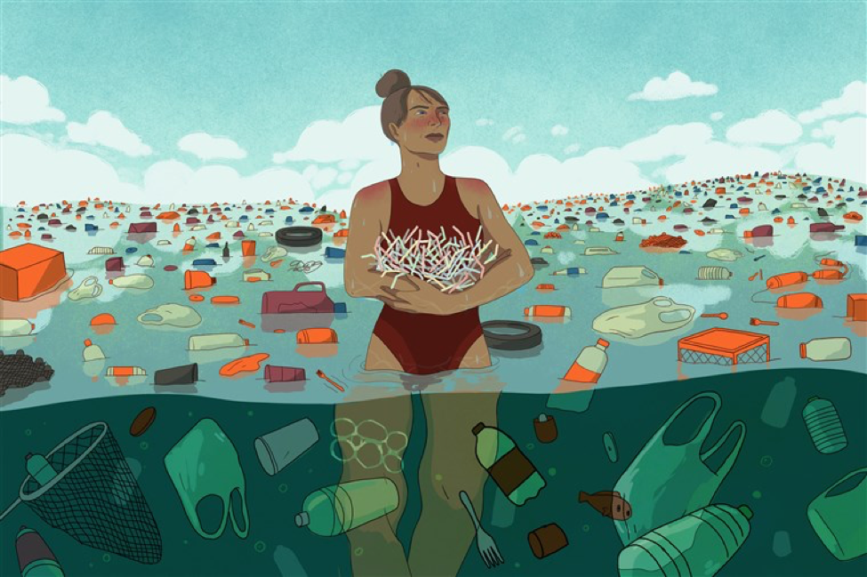 By 2050, it is estimated that there will be  more plastic than fish in the ocean.