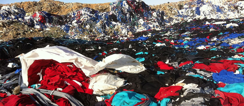 Clothes in a landfill in Syria