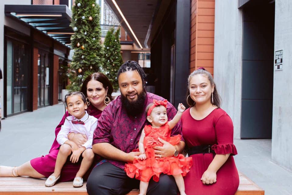 Matt, Sarah and their three children. Image: supplied.