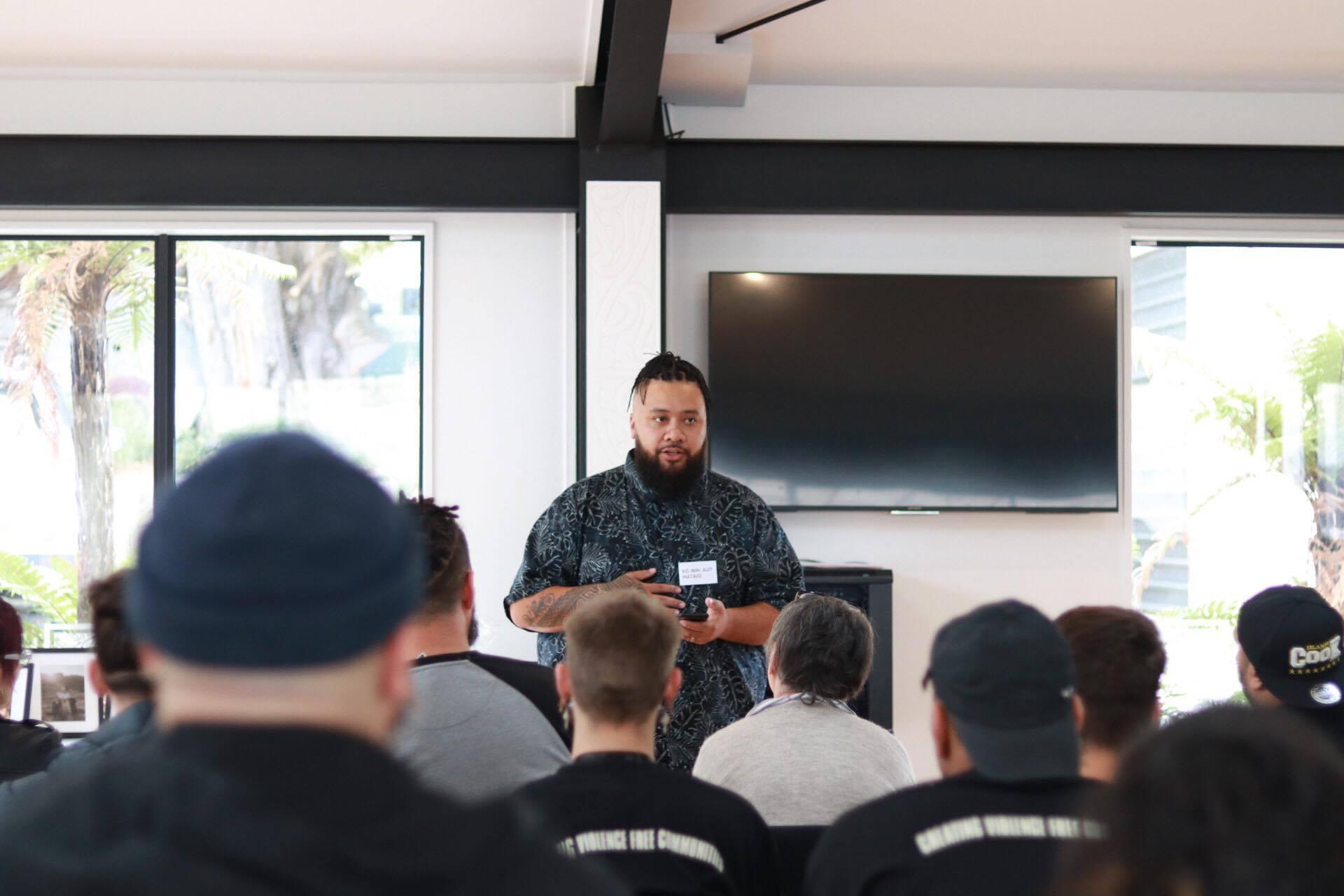 Matt teaching a group of men. Image: Supplied