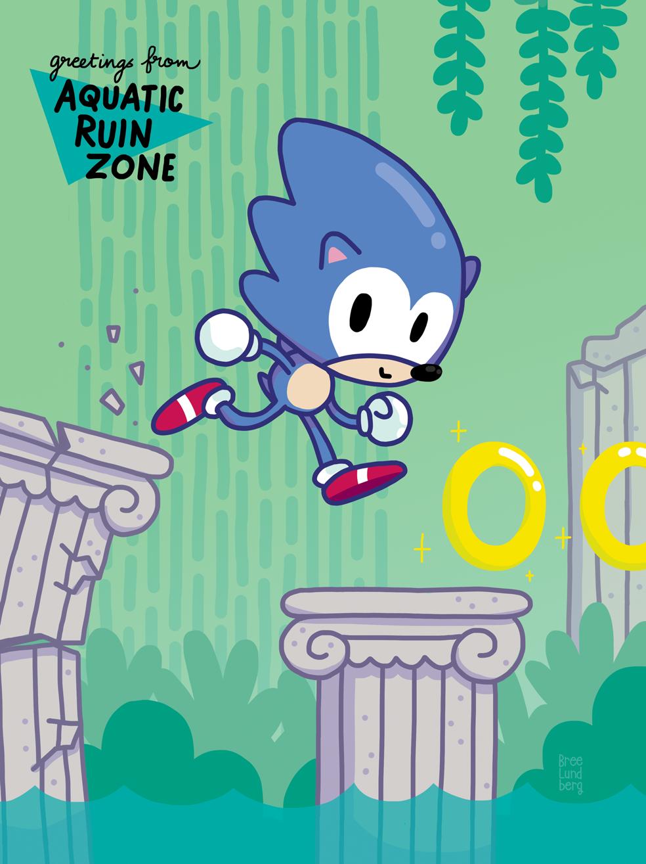 Sonic art appeared in  Green Hill Zine , a fan-made charity zine.