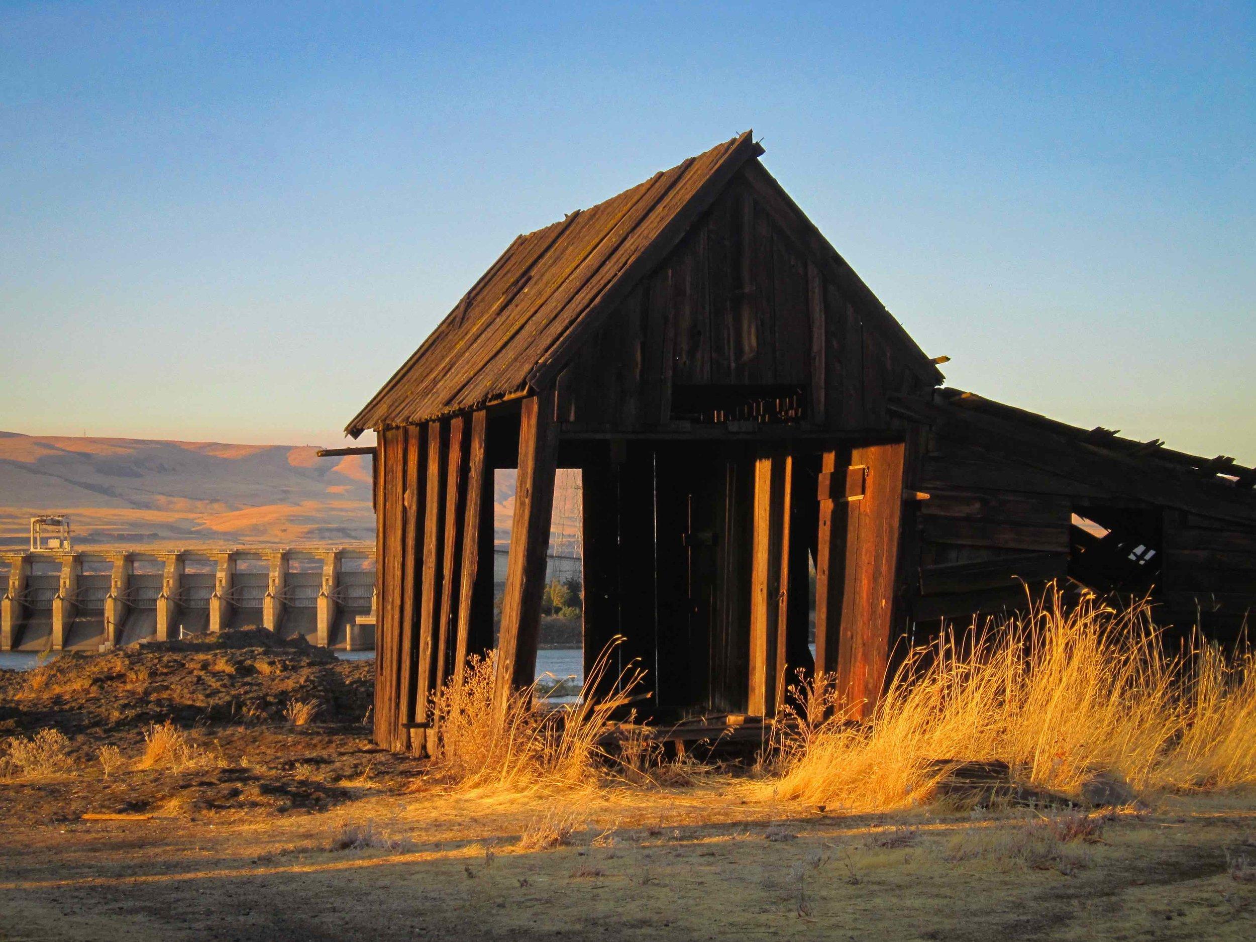 Deserted Farm Buildings along the Columbia River, Oregon