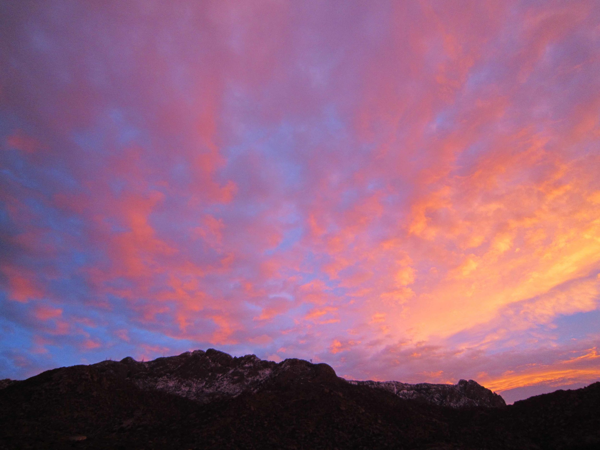 Sandia Mountain Winter Sunrise