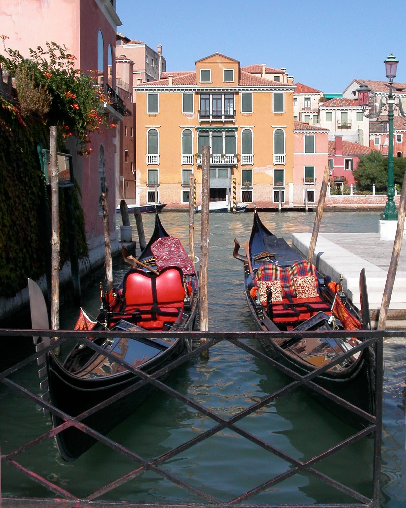 Docked Gondolas (Venice, Italy)