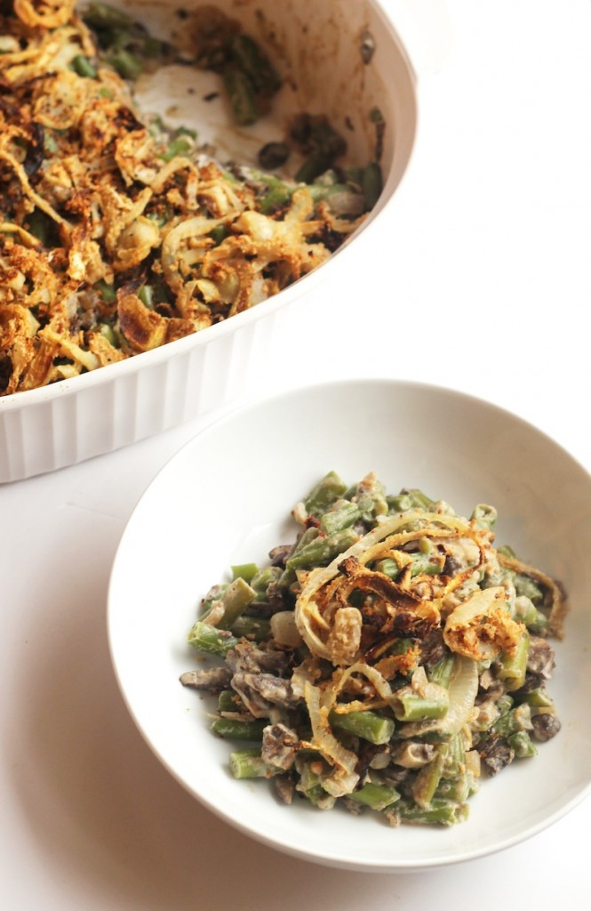This ultra creamy whole foods version of the classic green bean casserole tastes so decadent that you'll never guess it's dairy and guilt-free! Vegan and gluten-free.