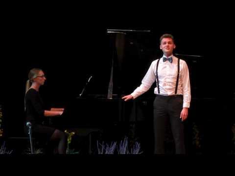 Nolan performs at donor event in the Laudamus Auditorium at Canadian Mennonite University, 2017.