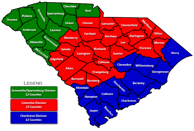 South Carolina Bankruptcy Court Divisions