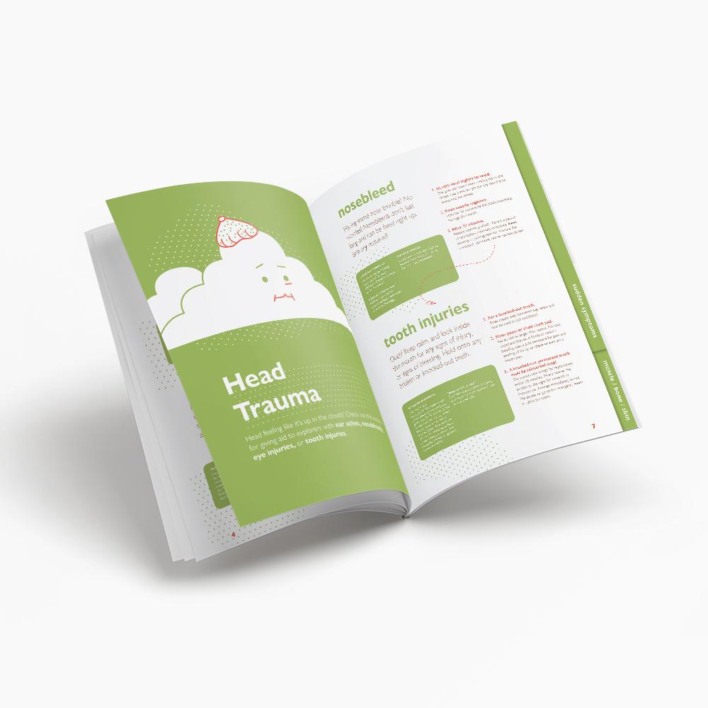 The Healthy Handbook for Hardy Explorers  Fall 2018, manual design, e-Book integration